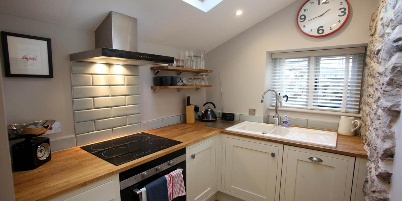 Luxury self catering kitchen at Downside House